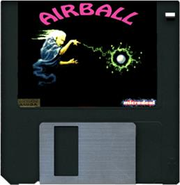 Cartridge artwork for Airball on the Commodore Amiga.