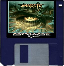 Cartridge artwork for Anarchy on the Commodore Amiga.