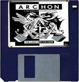 Cartridge artwork for Archon: The Light and the Dark on the Commodore Amiga.