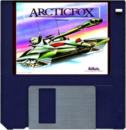 Cartridge artwork for Arcticfox on the Commodore Amiga.