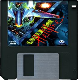 Cartridge artwork for Armour-Geddon 2: Codename Hellfire on the Commodore Amiga.