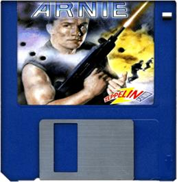 Cartridge artwork for Arnie on the Commodore Amiga.