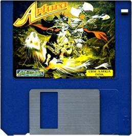 Cartridge artwork for Artura on the Commodore Amiga.