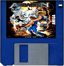 Cartridge artwork for Assassin on the Commodore Amiga.