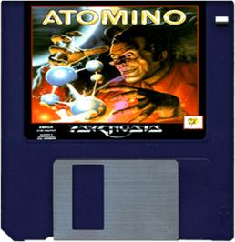 Cartridge artwork for Atomino on the Commodore Amiga.