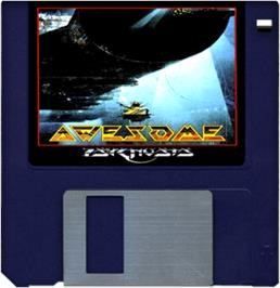 Cartridge artwork for Awesome on the Commodore Amiga.