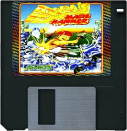 Cartridge artwork for Axel's Magic Hammer on the Commodore Amiga.