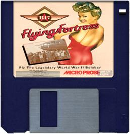 Cartridge artwork for B-17 Flying Fortress on the Commodore Amiga.