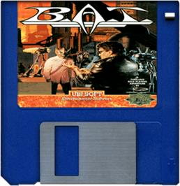 Cartridge artwork for BAT on the Commodore Amiga.