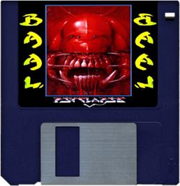 Cartridge artwork for Baal on the Commodore Amiga.