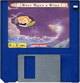 Cartridge artwork for Baba Yaga on the Commodore Amiga.