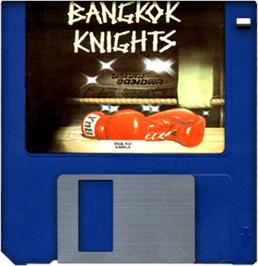 Cartridge artwork for Bangkok Knights on the Commodore Amiga.