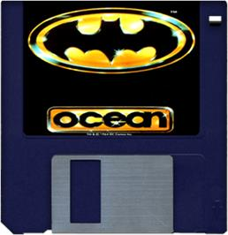 Cartridge artwork for Batman: The Movie on the Commodore Amiga.