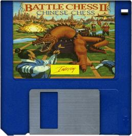 Cartridge artwork for Battle Chess 2: Chinese Chess on the Commodore Amiga.