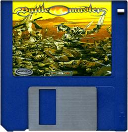 Cartridge artwork for Battle Master on the Commodore Amiga.