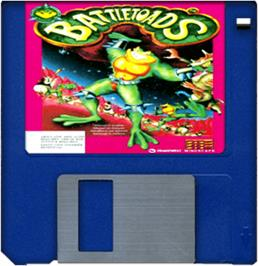 Cartridge artwork for Battle Toads on the Commodore Amiga.