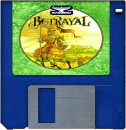 Cartridge artwork for Betrayal on the Commodore Amiga.