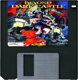 Cartridge artwork for Beyond Dark Castle on the Commodore Amiga.