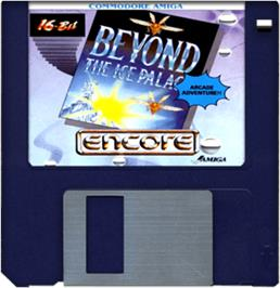 Cartridge artwork for Beyond the Ice Palace on the Commodore Amiga.