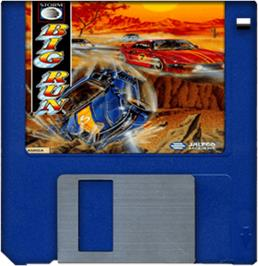 Cartridge artwork for Big Run on the Commodore Amiga.
