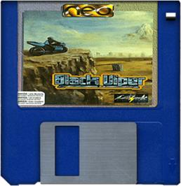 Cartridge artwork for Black Viper on the Commodore Amiga.