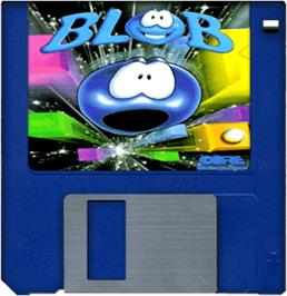 Cartridge artwork for Blob on the Commodore Amiga.
