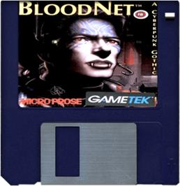 Cartridge artwork for BloodNet on the Commodore Amiga.
