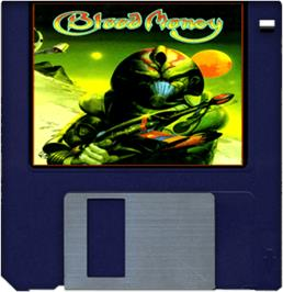 Cartridge artwork for Blood Money on the Commodore Amiga.