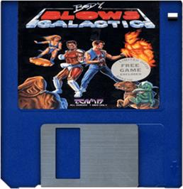 Cartridge artwork for Body Blows Galactic on the Commodore Amiga.