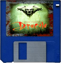 Cartridge artwork for Bram Stoker's Dracula on the Commodore Amiga.