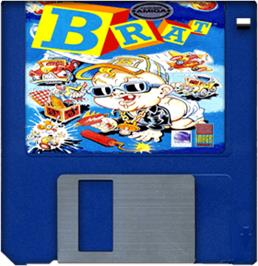 Cartridge artwork for Brat on the Commodore Amiga.