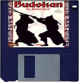 Cartridge artwork for Budokan: The Martial Spirit on the Commodore Amiga.
