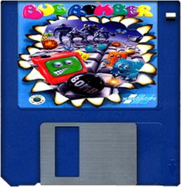 Cartridge artwork for Bug Bomber on the Commodore Amiga.