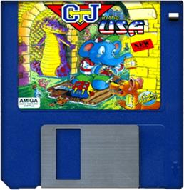 Cartridge artwork for CJ In the USA on the Commodore Amiga.