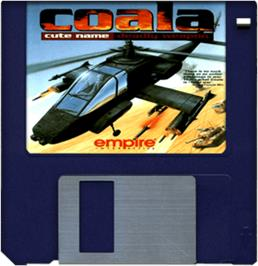 Cartridge artwork for COALA on the Commodore Amiga.