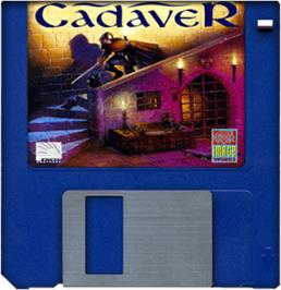 Cartridge artwork for Cadaver: The Payoff on the Commodore Amiga.