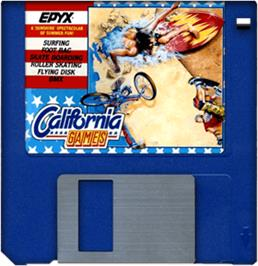 Cartridge artwork for California Games on the Commodore Amiga.