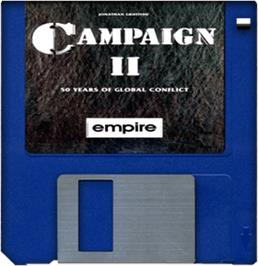 Cartridge artwork for Campaign 2 on the Commodore Amiga.