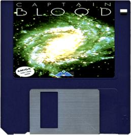 Cartridge artwork for Captain Blood on the Commodore Amiga.