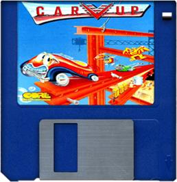 Cartridge artwork for Car-Vup on the Commodore Amiga.