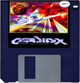 Cartridge artwork for Cardiaxx on the Commodore Amiga.