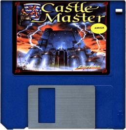 Cartridge artwork for Castle Master on the Commodore Amiga.