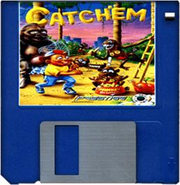 Cartridge artwork for Catch 'em on the Commodore Amiga.