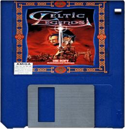 Cartridge artwork for Celtic Legends on the Commodore Amiga.