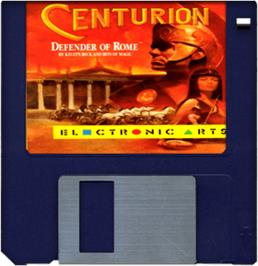 Cartridge artwork for Centurion: Defender of Rome on the Commodore Amiga.