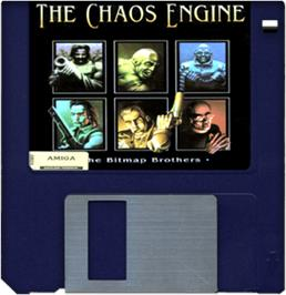 Cartridge artwork for Chaos Engine on the Commodore Amiga.