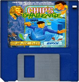 Cartridge artwork for Chip's Challenge on the Commodore Amiga.