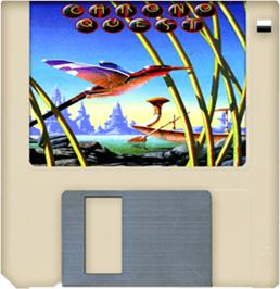Cartridge artwork for Chrono Quest on the Commodore Amiga.