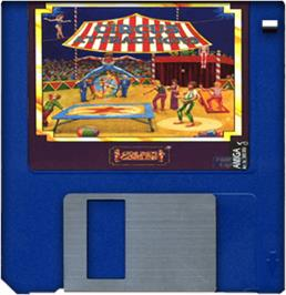 Cartridge artwork for Circus Attractions on the Commodore Amiga.