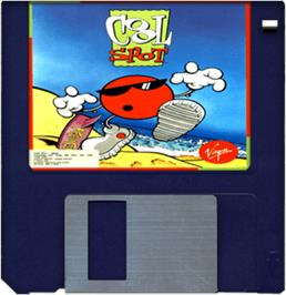 Cartridge artwork for Cool Spot on the Commodore Amiga.